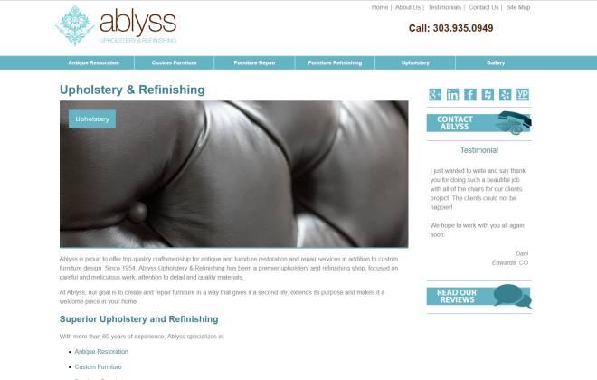 Ablyss Upholstery & Refinishing